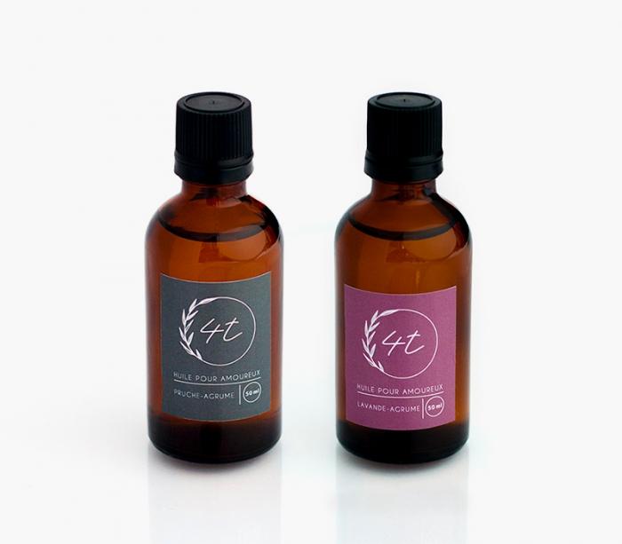 4T huile massage pour amoureux